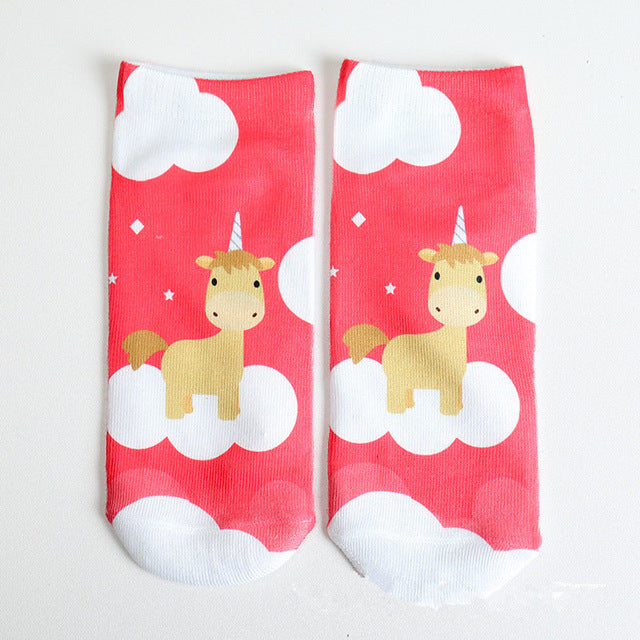 3D Print Unicorn Ankle Socks