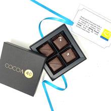 Load image into Gallery viewer, #Chocolate4Change - Shining Through Centre - Chocolates - Cocoa40 Inc. - Gourmet Chocolate Made in Canada