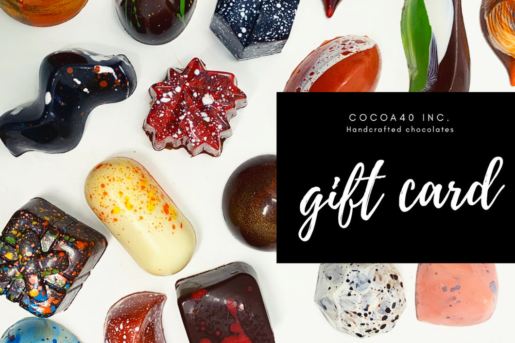 Gift Card - Cocoa40 Inc. - Gourmet Chocolate Made in Canada