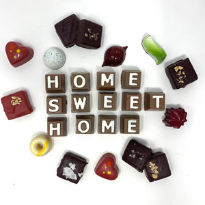 """Home Sweet Home"" Chocolate Box - Cocoa40 Inc. - Gourmet Chocolate Made in Canada"