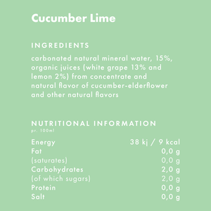 Level Organic, Cucumber Lime