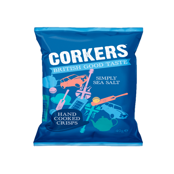 Corkers Crisps Sea Salt