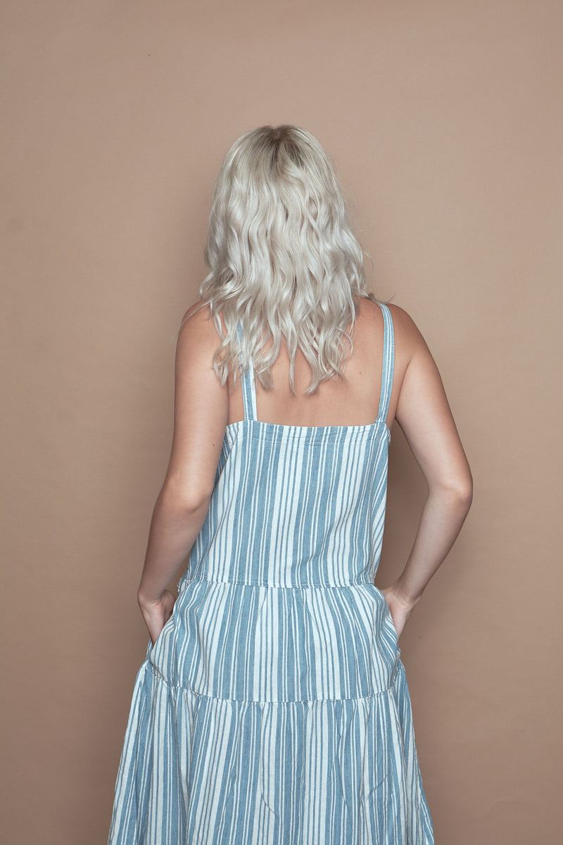 Indigo Striped Blue Moon Dress
