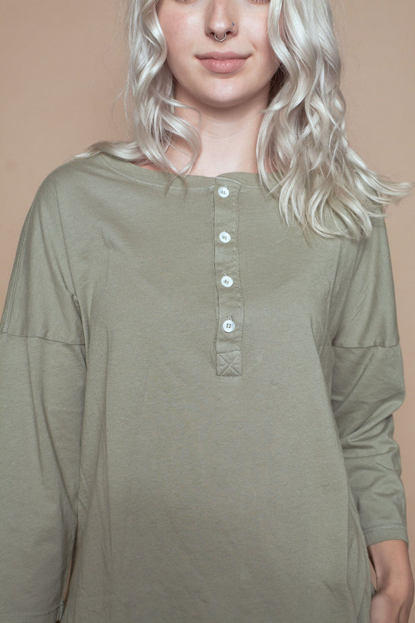Classic Henley - Sage