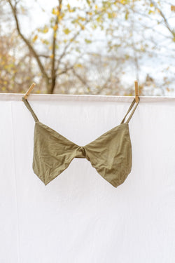 Stella Low Cut Bra - Olive