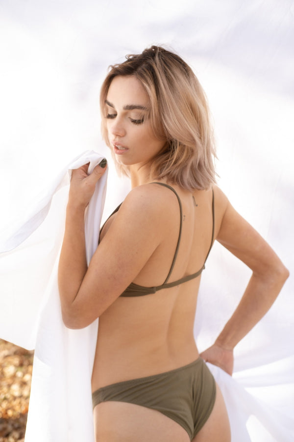 Maya Low Waist Undies - Olive