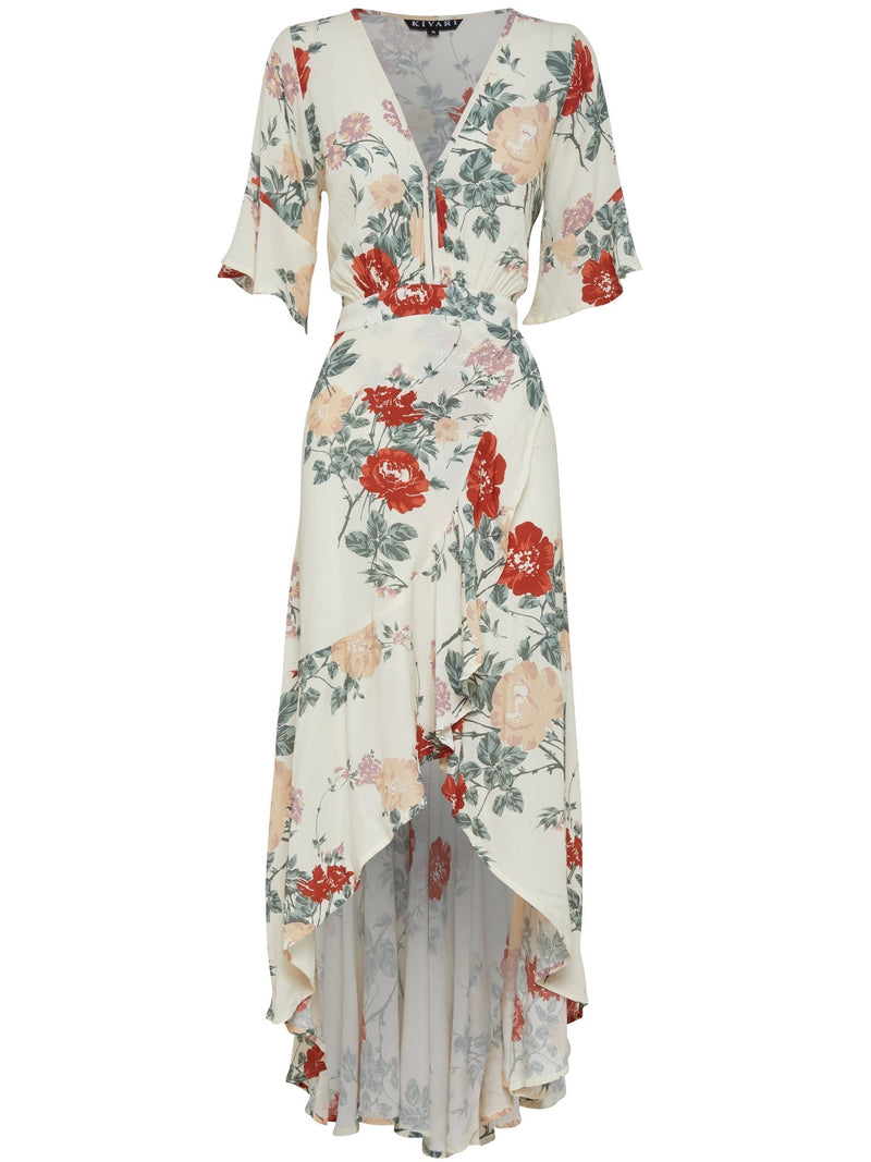 Harper Bloom Maxi Wrap Dress