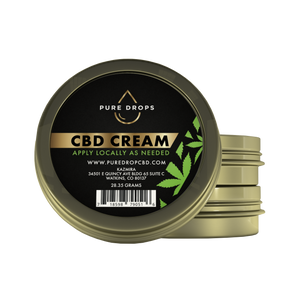 CBD Cream (28.35 grams - 1oz) - PureDropsCBD