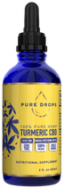 Load image into Gallery viewer, Turmeric Based CBD Oil 1000 mg in 60 ml (2 fl. oz.) - PureDropsCBD