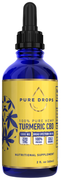 Turmeric Based CBD Oil 1500 mg in 60 ml (2 fl. oz.) - PureDropsCBD
