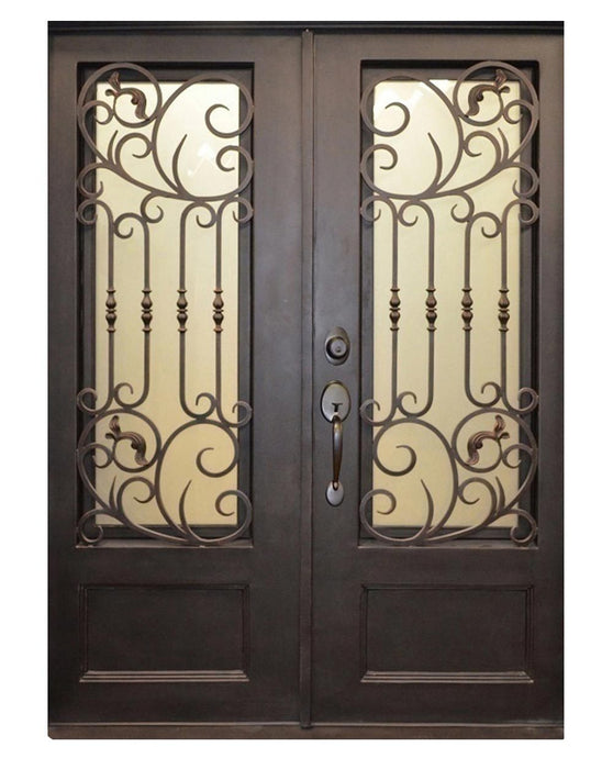 Alexia 73.5x81 Eyebrow Arch Iron Door