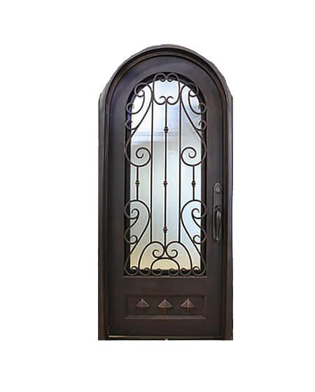 Alice 73.5x81 Eyebrow Arch Iron Door