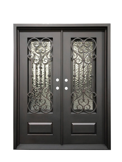 Angellum 73.5x81 Half Circle Iron Door