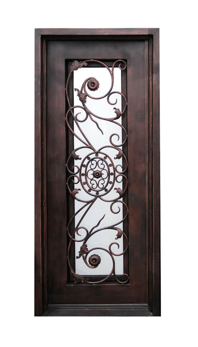 Arcana 73.5x81 Eyebrow Arch Iron Door