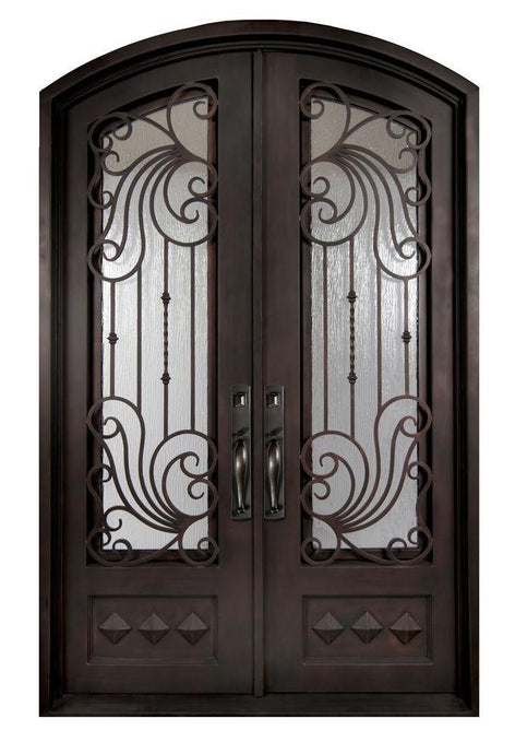 Bastille 37.5x81 Eyebrow Arch Iron Door