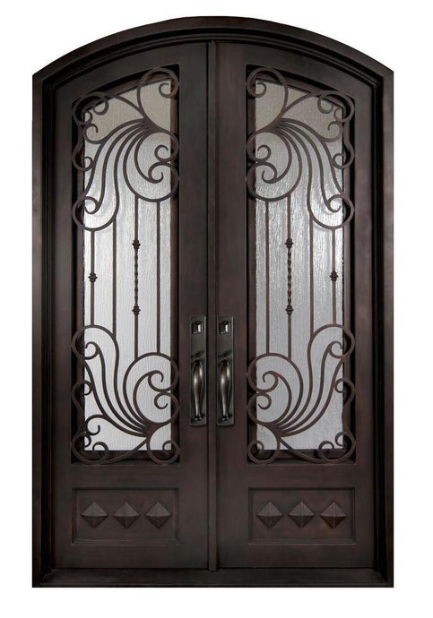 Bastille 73.5x96 Half Circle Iron Door