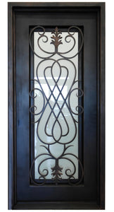 Columbia 73.5x96 Flat Top Iron Door