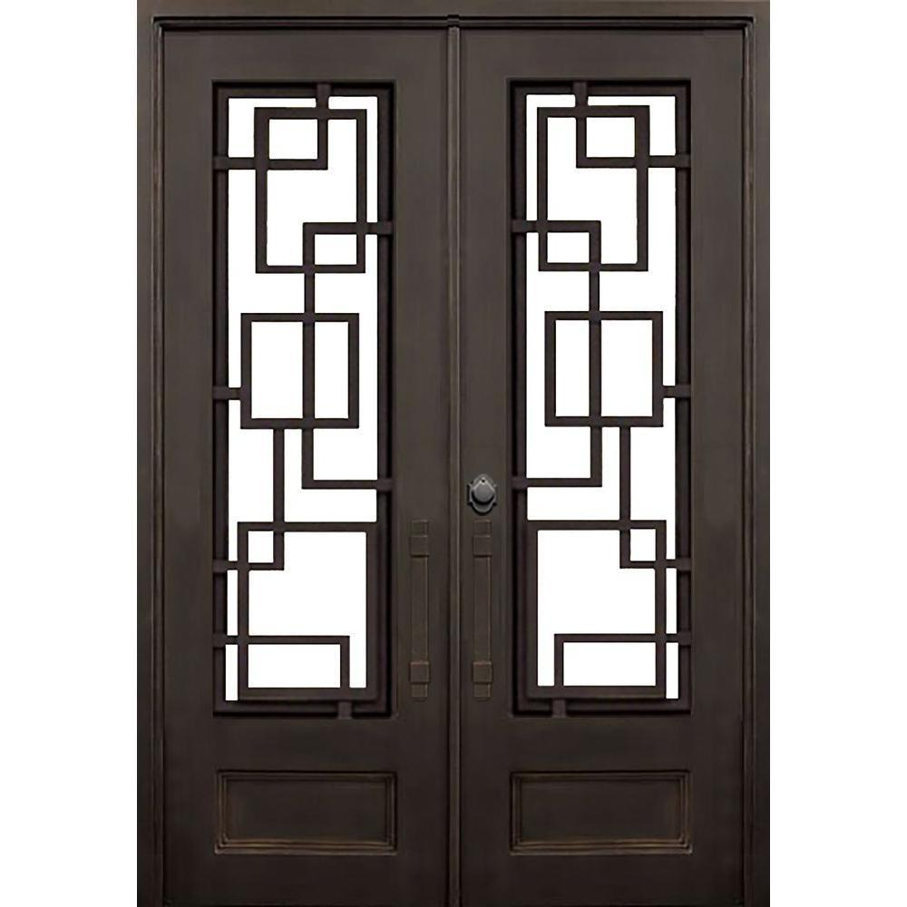 Courtyard 73.5x81 Half Circle Iron Door