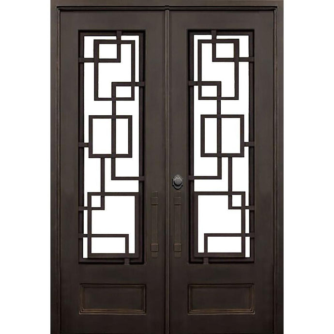 Courtyard 61.5x81 Flat Top Iron Door