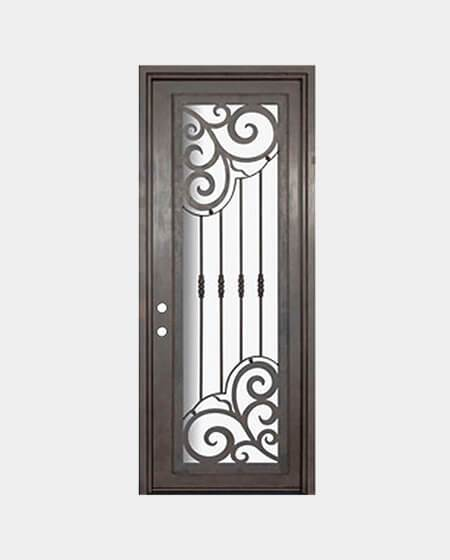 Druid 61.5x81 Flat Top Iron Door