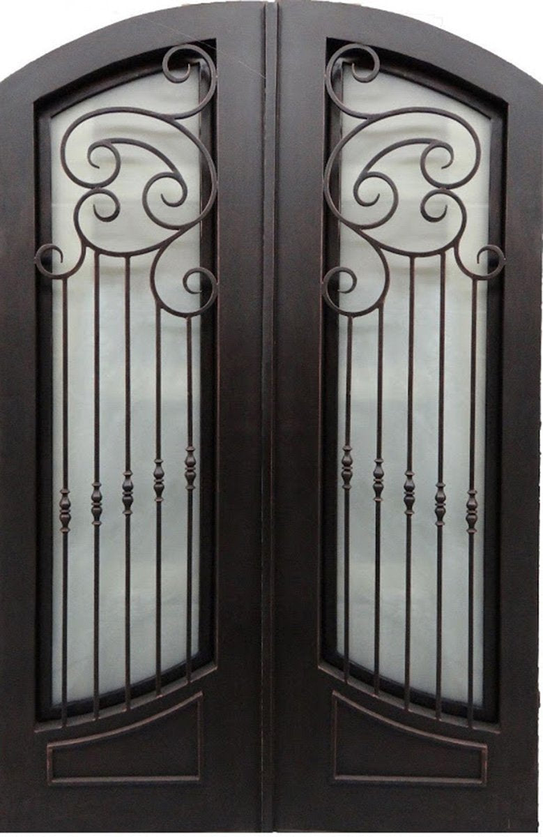 Riverrun 73.5x96 Flat Top Iron Door