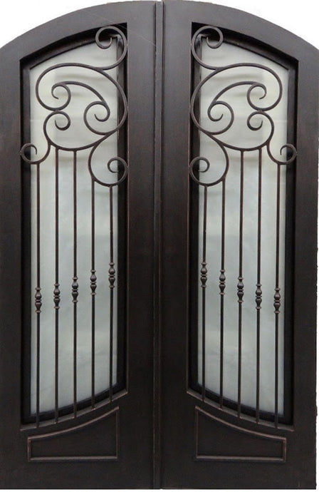 Riverrun 61.5x81 Flat Top Iron Door
