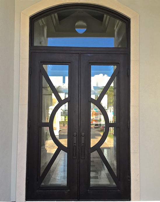 Sheraton 37.5x81 Eyebrow Arch Iron Door