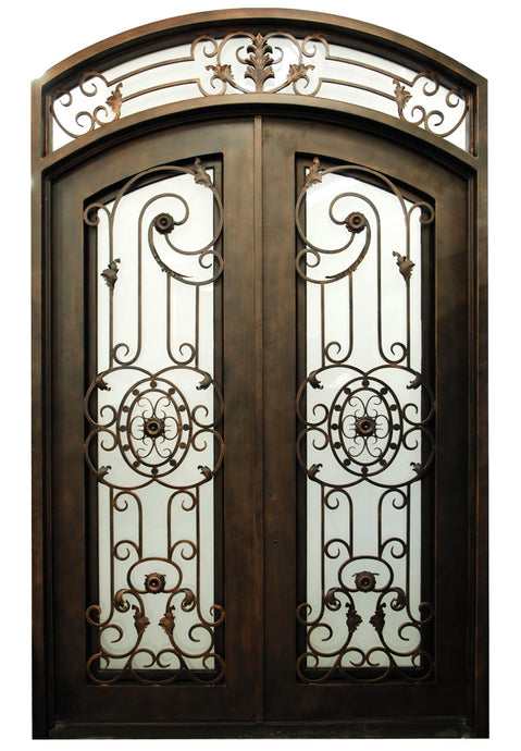 Sunspear 73.5x81 Eyebrow Arch Iron Door