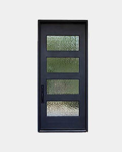 Titus 73.5x96 Flat Top Iron Door
