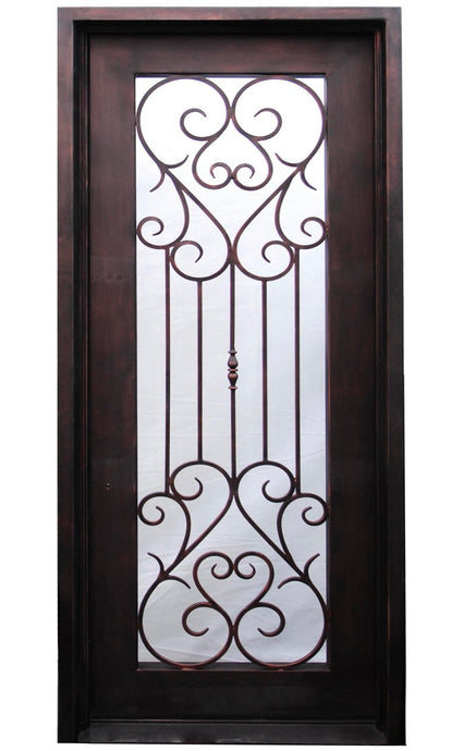 Valentino 61.5x81 Half Circle Iron Door