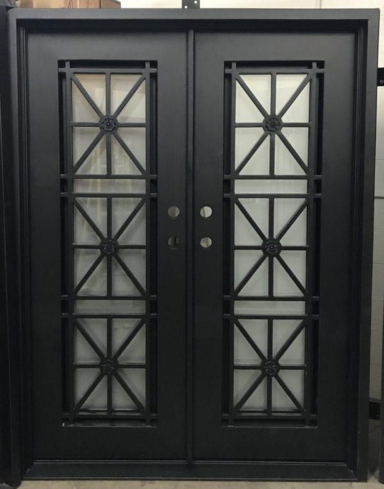Vlad 61.5x81 Eyebrow Arch Iron Door