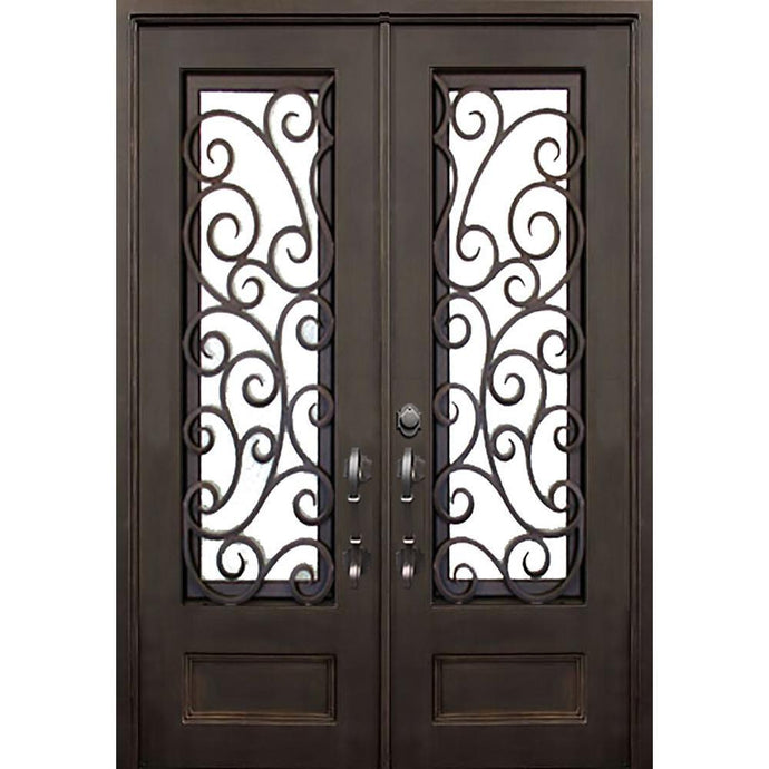 Windham 61.5x81 Eyebrow Arch Iron Door