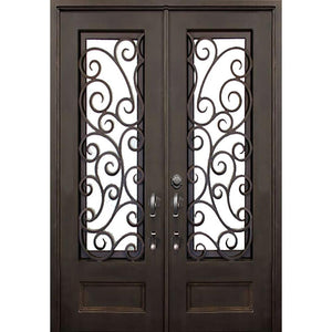 Windham 73.5x96 Flat Top Iron Door