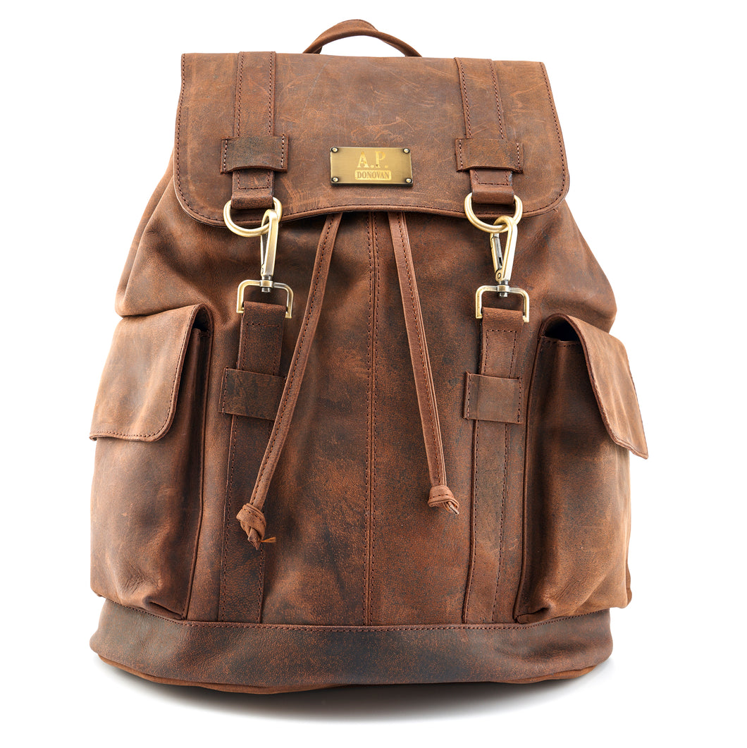 Leder Backpack