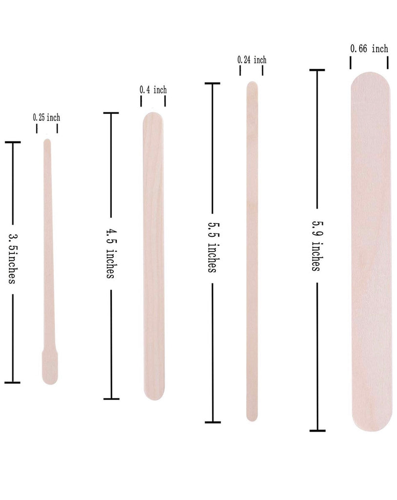 Wax Stick Applicators Medium - 100ct