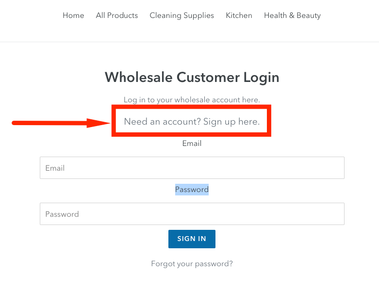 zero waste wholesale login