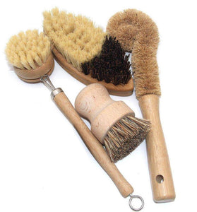 Bamboo and Sisal 4 Piece Brush Set