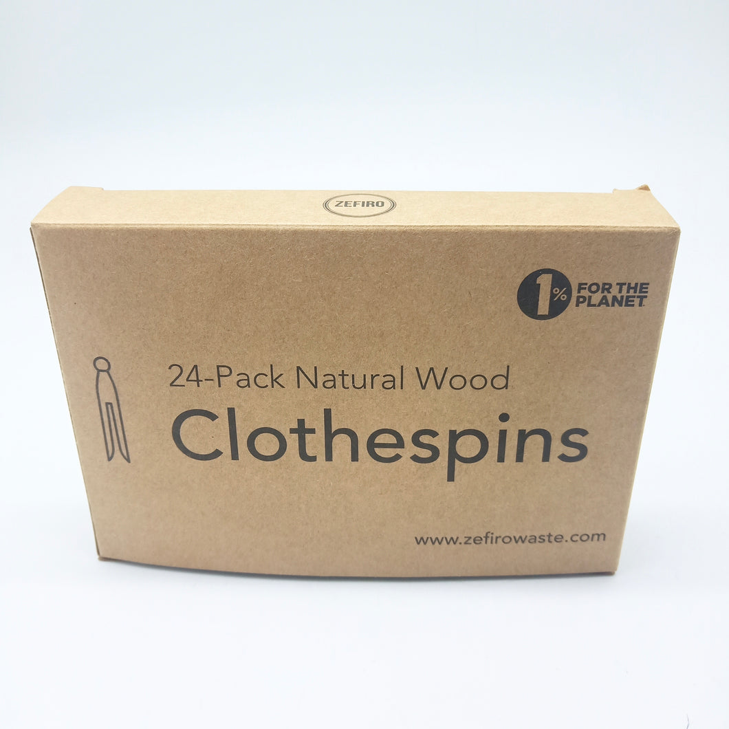 Wooden Clothespins 24 Pack