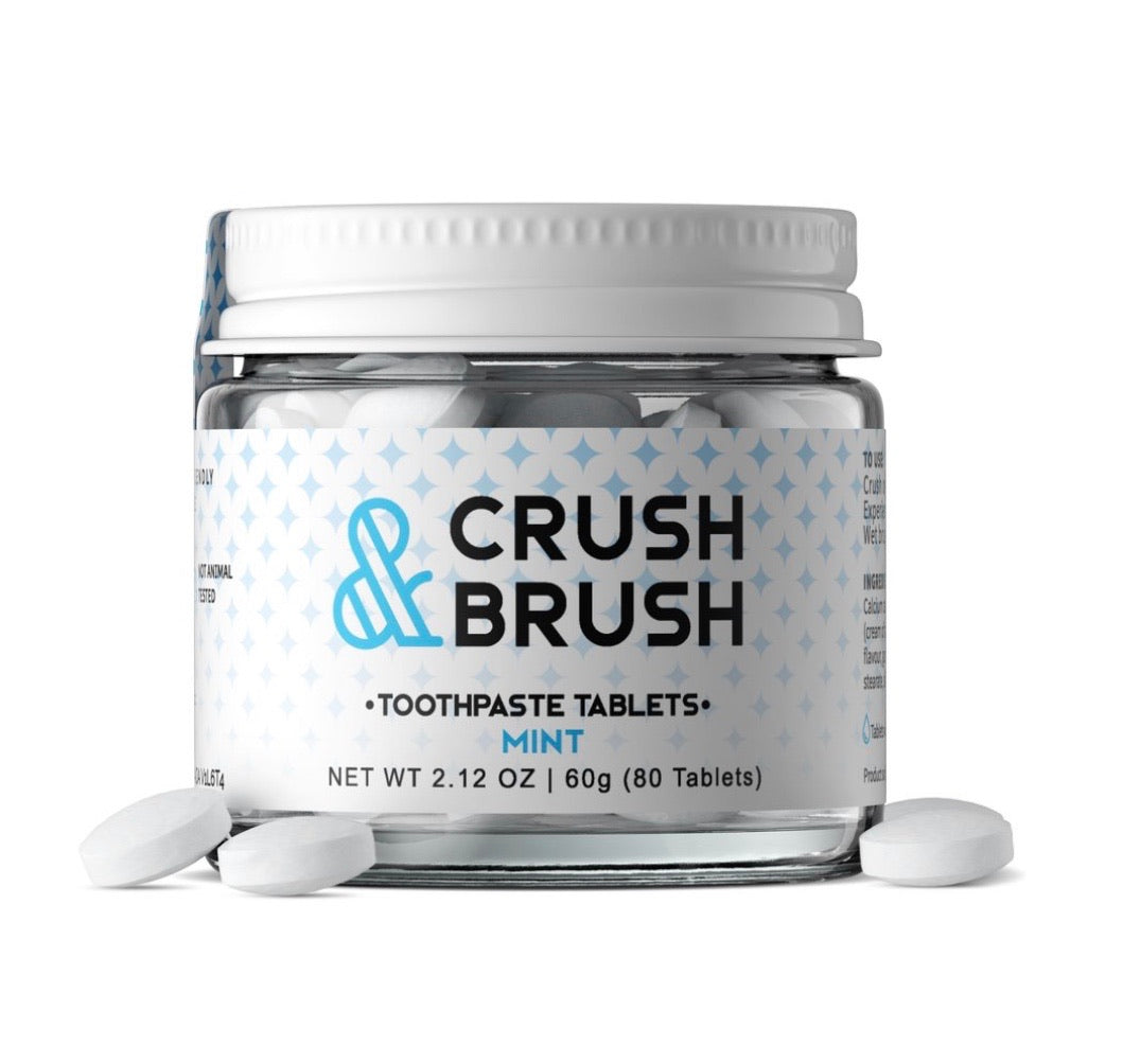 CRUSH & BRUSH MINT - 60G ~ 80 TABLETS