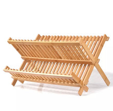 Load image into Gallery viewer, Dish Drying Rack - Two-Tier - Bamboo