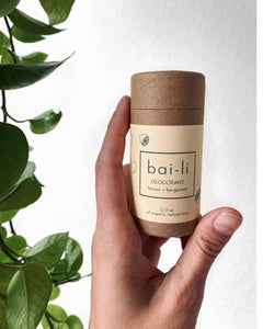 Natural Deodorant - Bai-li WARNING - these can melt easily in the mail if left outside in the heat!