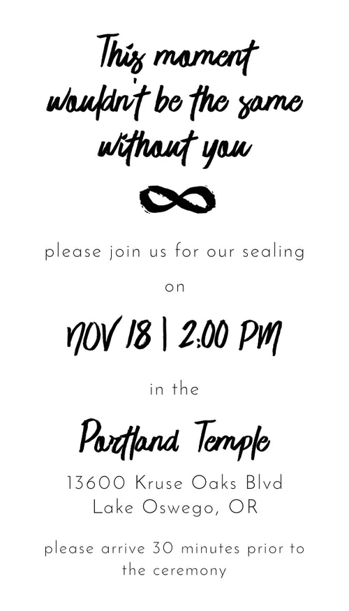 Sealing Invitations LDS Cards