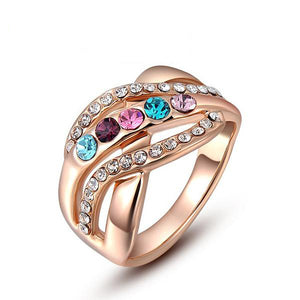 The Queen Colorful Stones Ring #7