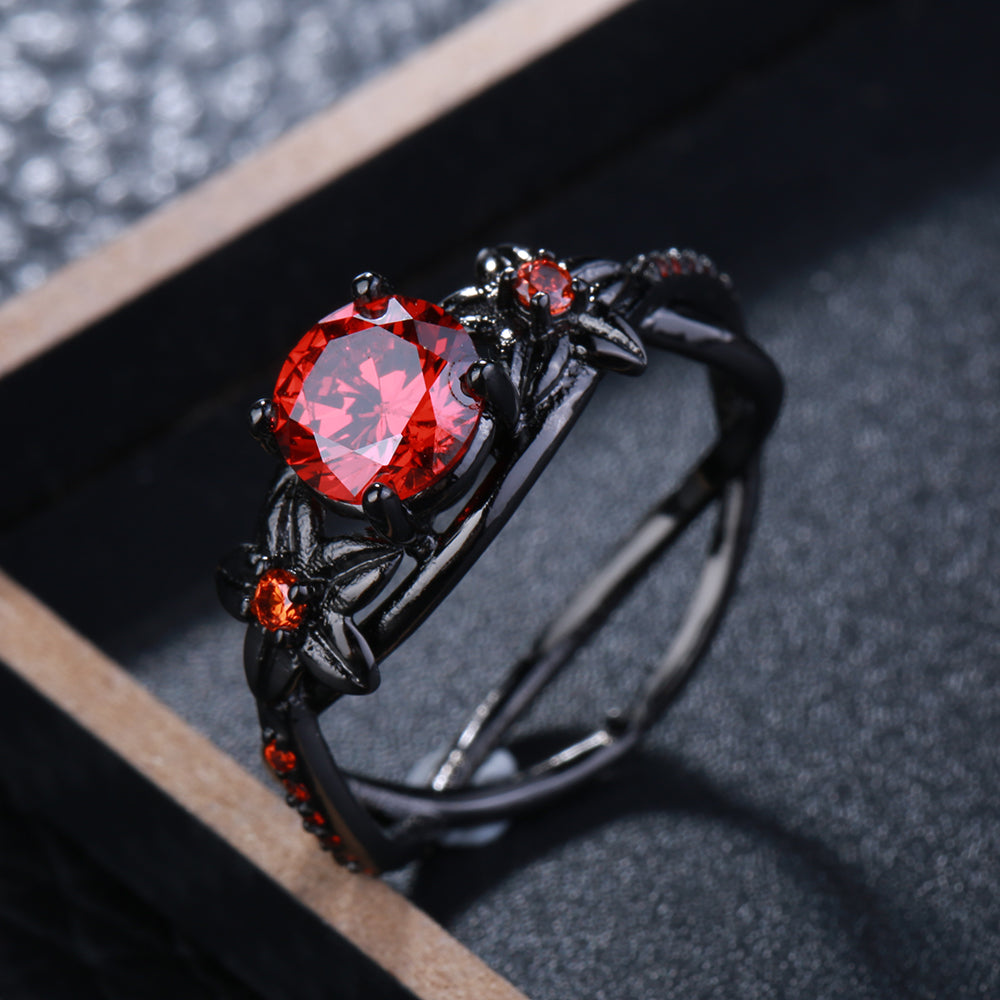The Queen Black Vintage Ring #6
