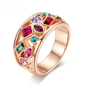 The Queen Colorful Stones Ring #2