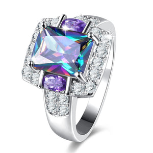 The Queen Rainbow Crystal Ring #2