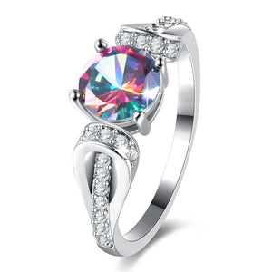 The Queen Rainbow Crystal Ring #5