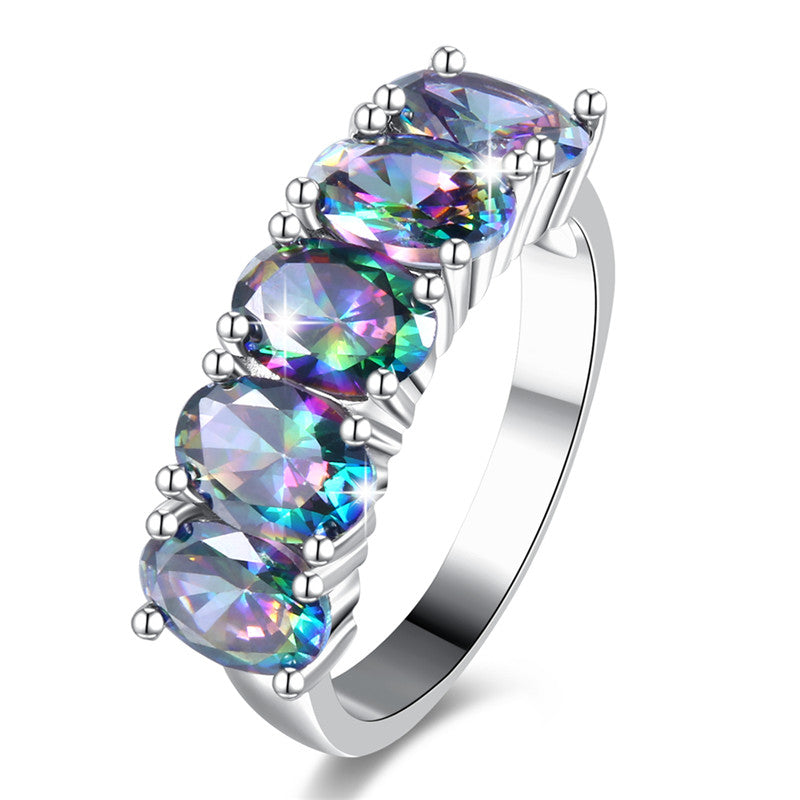 The Queen Rainbow Crystal Ring #3
