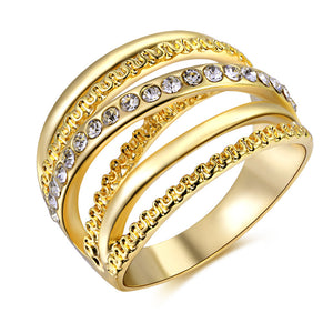 The Queen Gold Fashion Ring #11