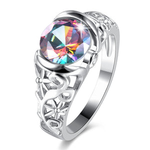 The Queen Rainbow Crystal Ring #4